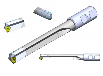 Indexable Deep Drill (CAD model)